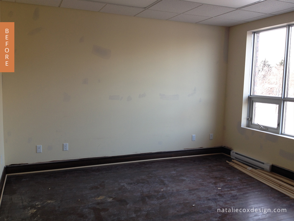 Before photo of the boardroom.
