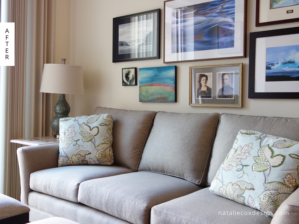 After - Art Inspired Small Space - Ottawa Decorator Natalie Cox