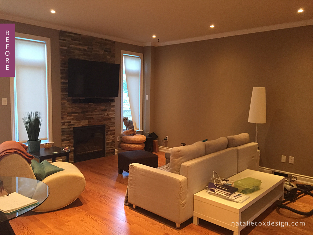 Before - Colourful Home Makeover - Ottawa Decorator Natalie Cox