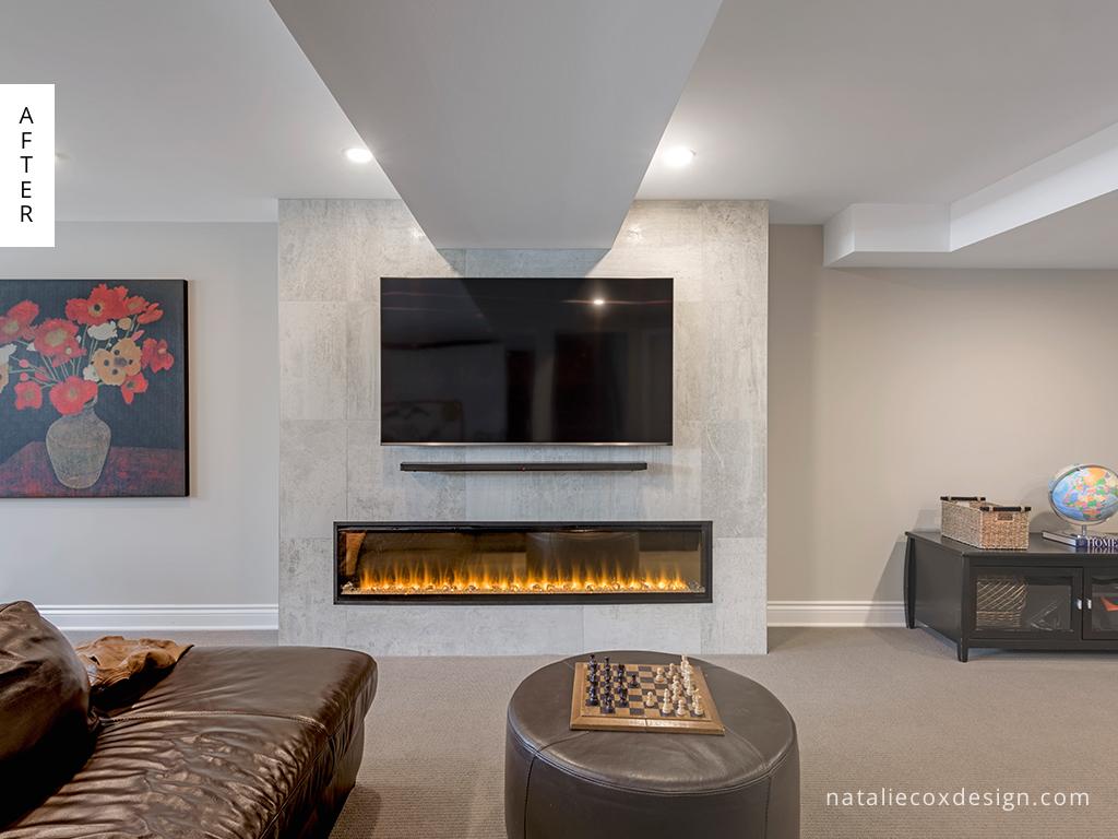 After 1 - Basement Renovation - Natalie Cox Design - Interior Decorator - Ottawa, ON