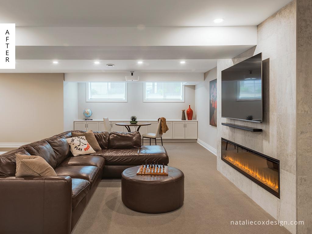 After 2 - Basement Renovation - Natalie Cox Design - Interior Decorator - Ottawa, ON