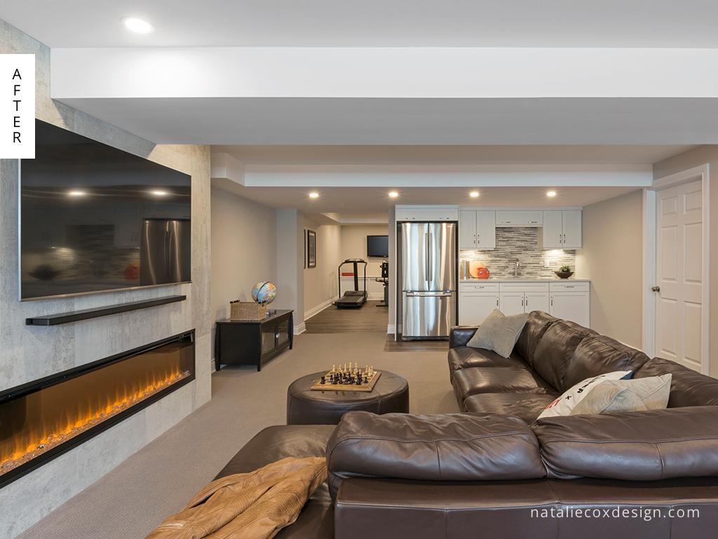After 4 - Basement Renovation - Natalie Cox Design - Interior Decorator - Ottawa, ON
