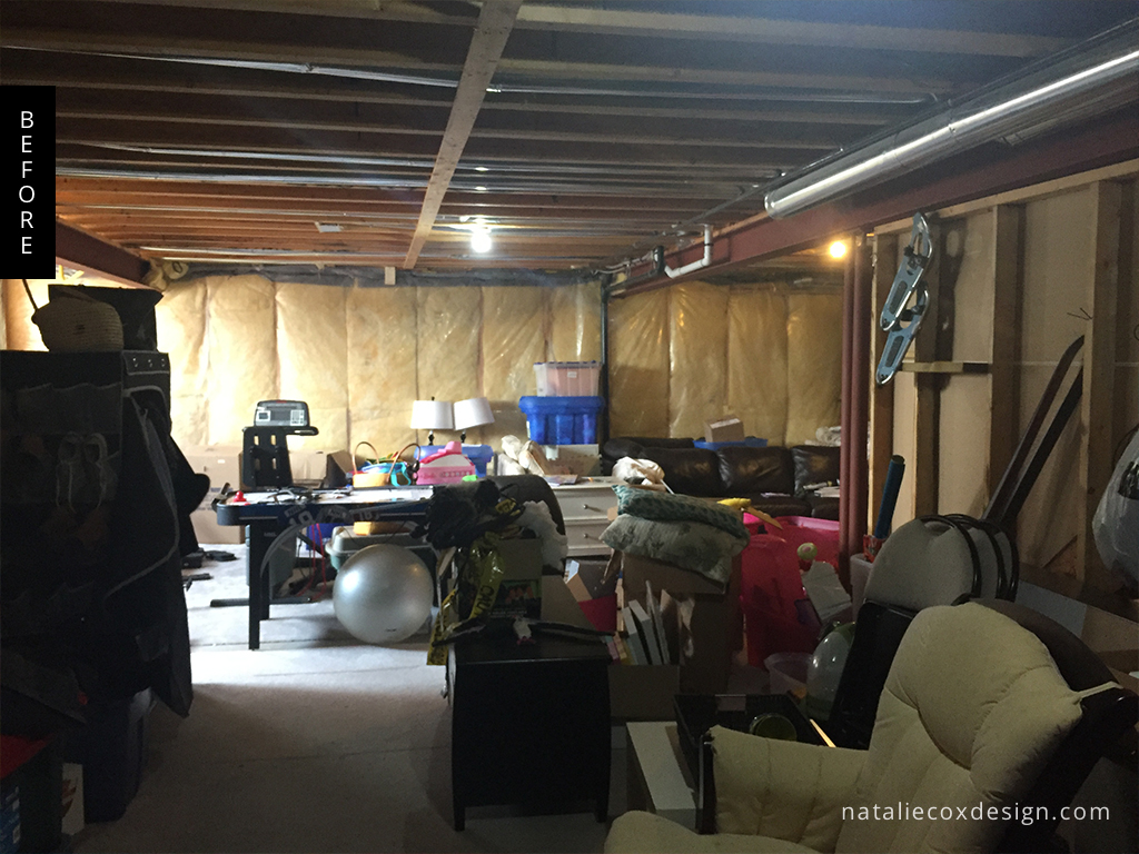 Before 2 - Basement Renovation - Natalie Cox Design - Interior Decorator - Ottawa, ON