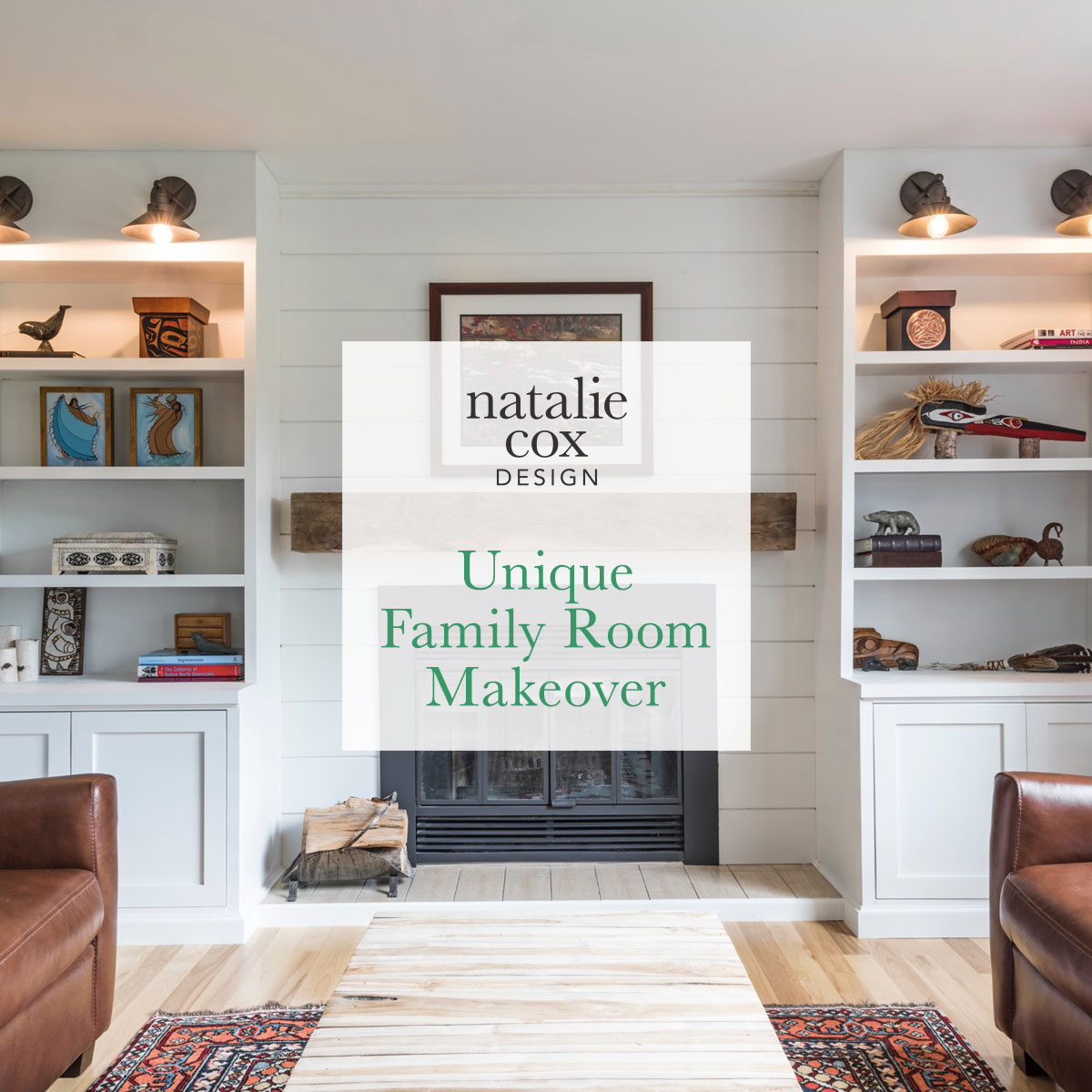 Unique Family Room Makeover - Natalie Cox Design - Interior Decorator - Kanata/Ottawa, Ontario