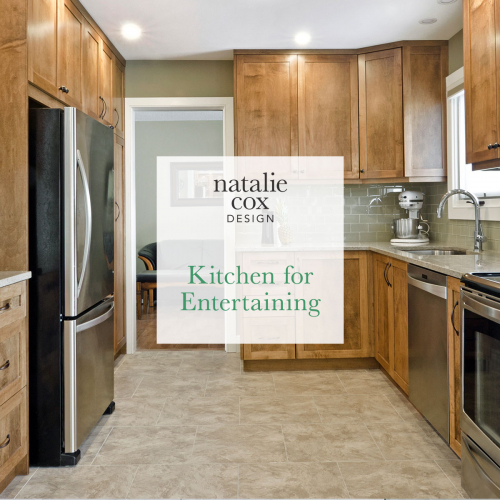 Kitchen for Entertaining - Natalie Cox Design - Interior Decorator - Ottawa, ON